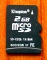 Kingston 2GB Micro SD Memory Card